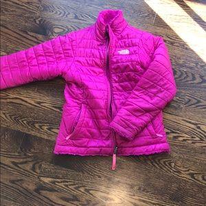 Girls north face jacket size medium reversible
